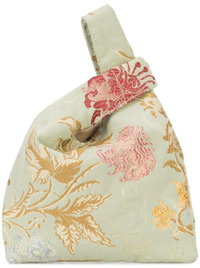 сумка с цветочным принтом
