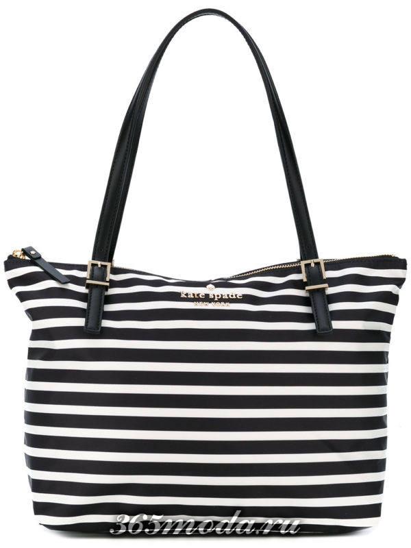 пляжная полосатая сумка