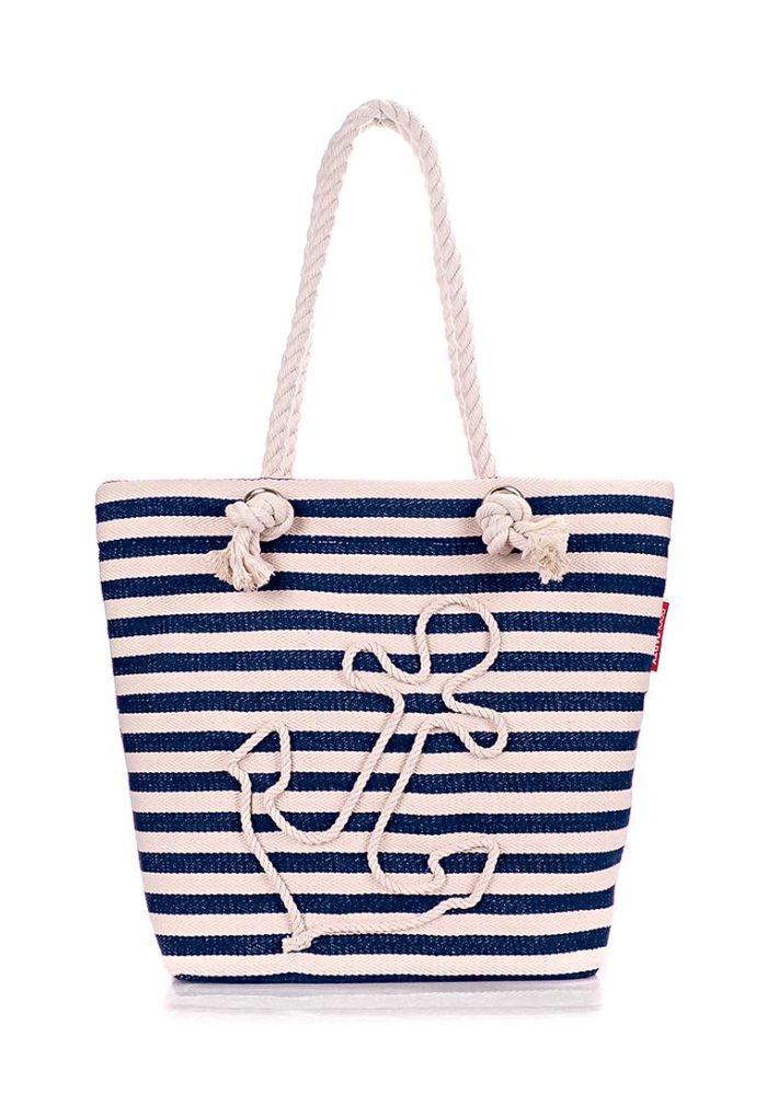 пляжная сумка в полоску с рисунком