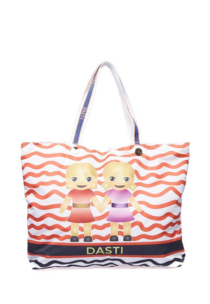 пляжная сумка с принтом и рисунком