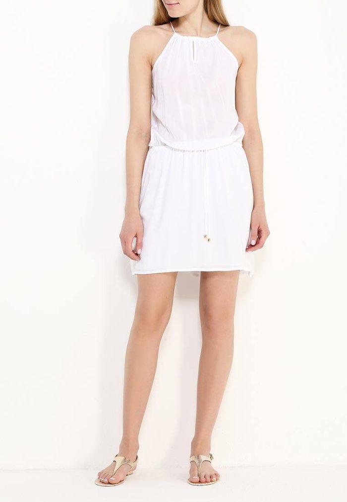 белый короткий сарафан