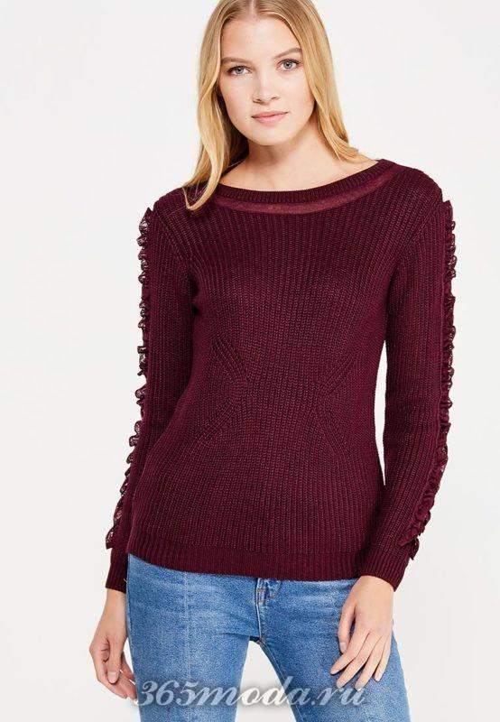свитер цвета марсала блондинкам