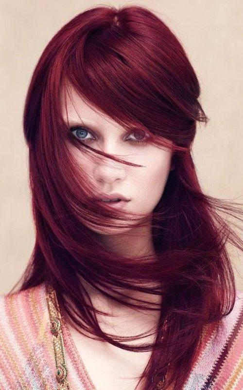 цвет волос марсала