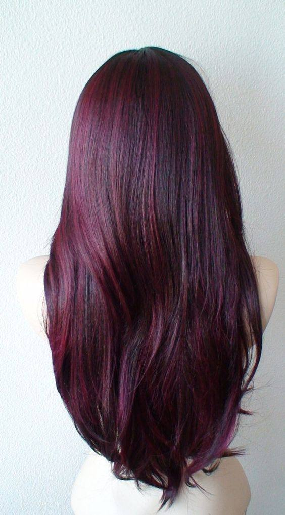 цвет волос баклажан