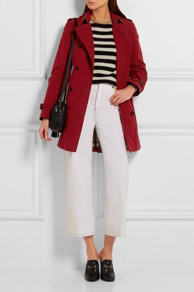 короткое пальто марсала