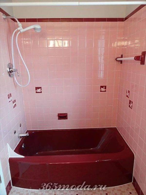 ванная цвета марсала