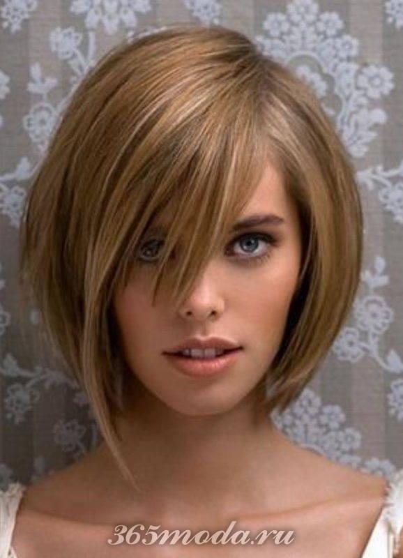 женские стрижки каре на ножке: на средние волосы