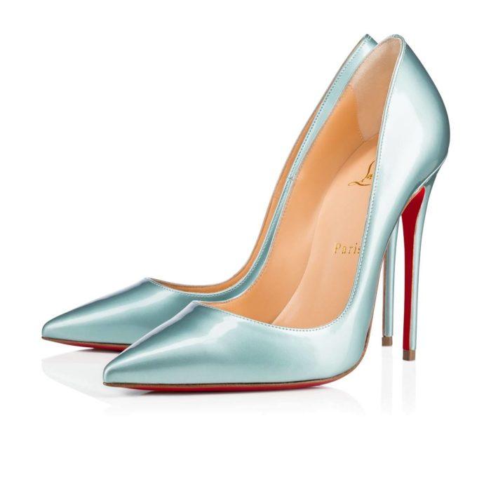 лабутены: блестящие туфли на шпильке