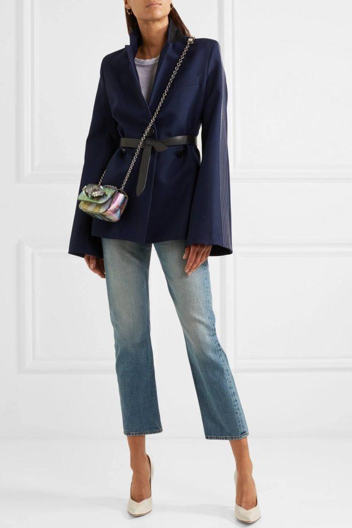 туфли лабутены: на шпильке с джинсами и пиджаком