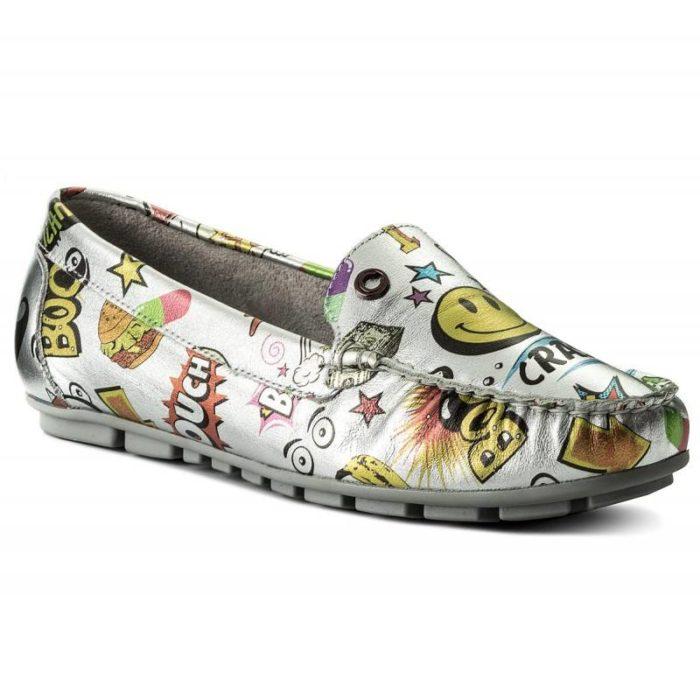 женская обувь весна лето: мокасины с принтом
