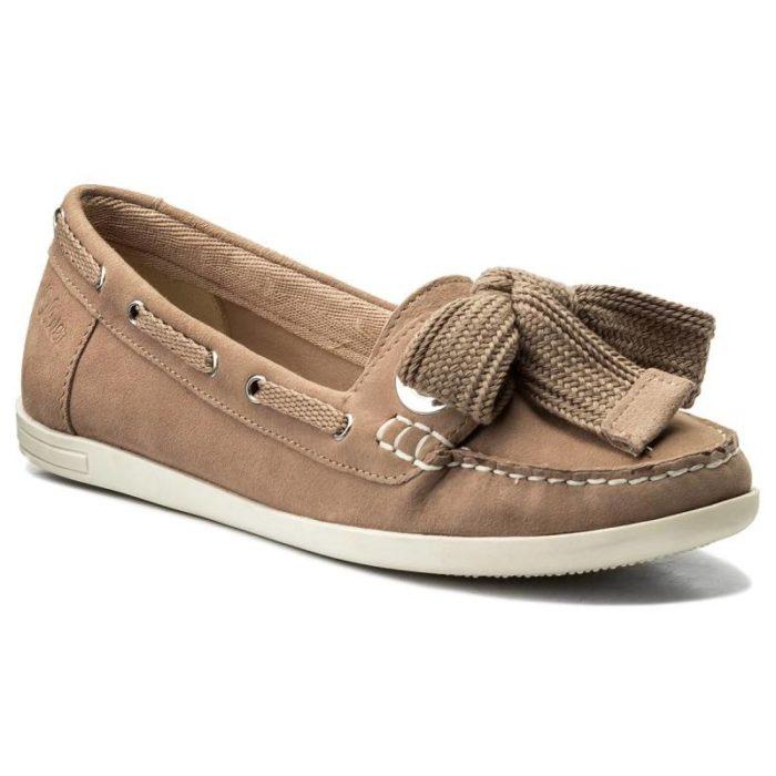 коричневые топсайдеры со шнуровкой