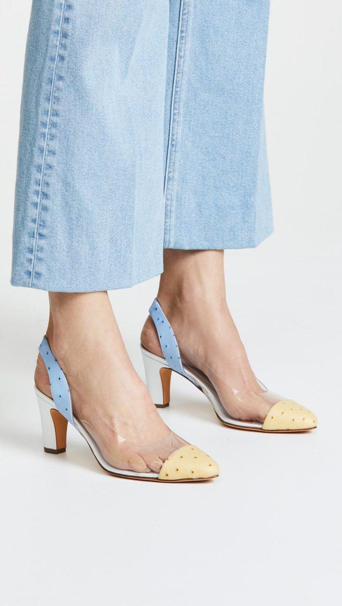 женская обувь весна лето: туфли с прозрачными вставками