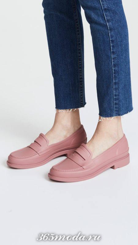 розовые лоферы