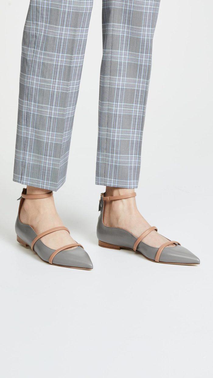 модная женская обувь весна лето: балетки с пряжками