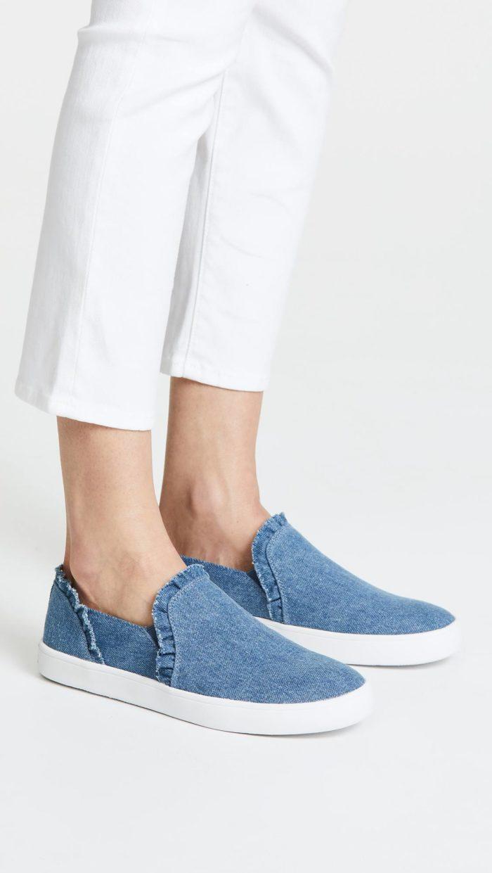 женская обувь весна лето: джинсовые слипоны