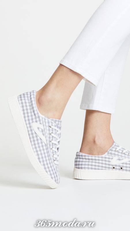 кроссовки с принтом