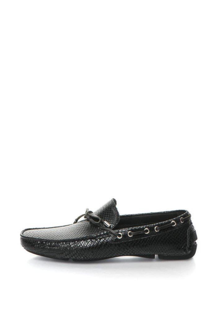 женская обувь весна лето: черные мокасины