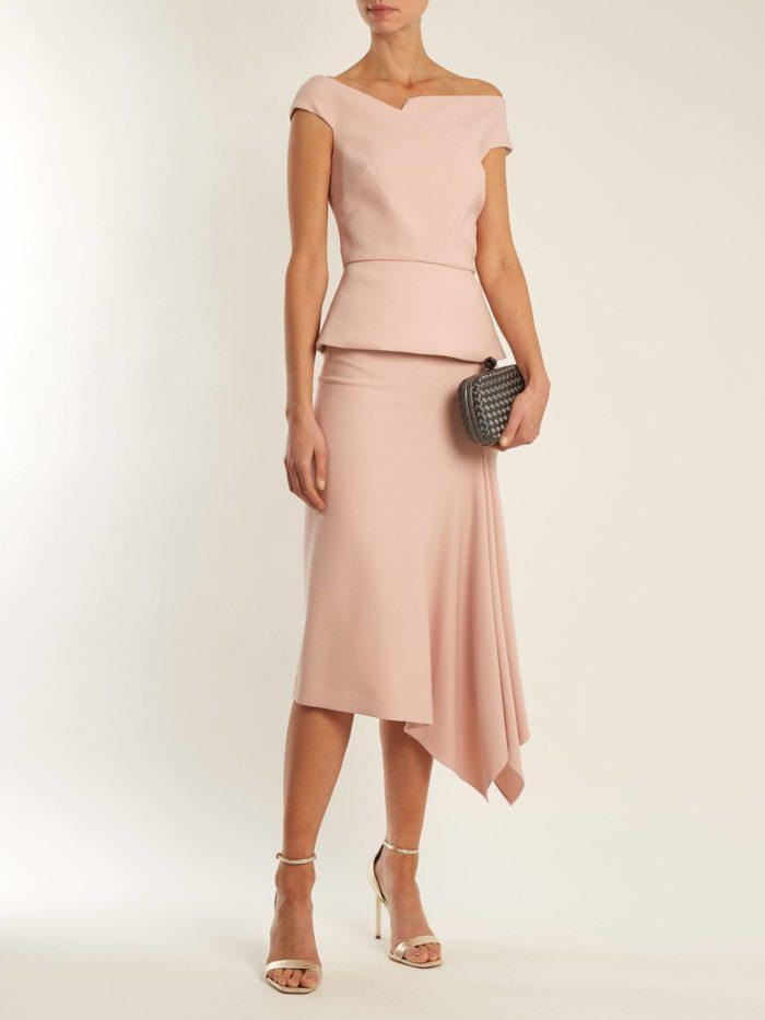комплект из топа и асимметричной юбки