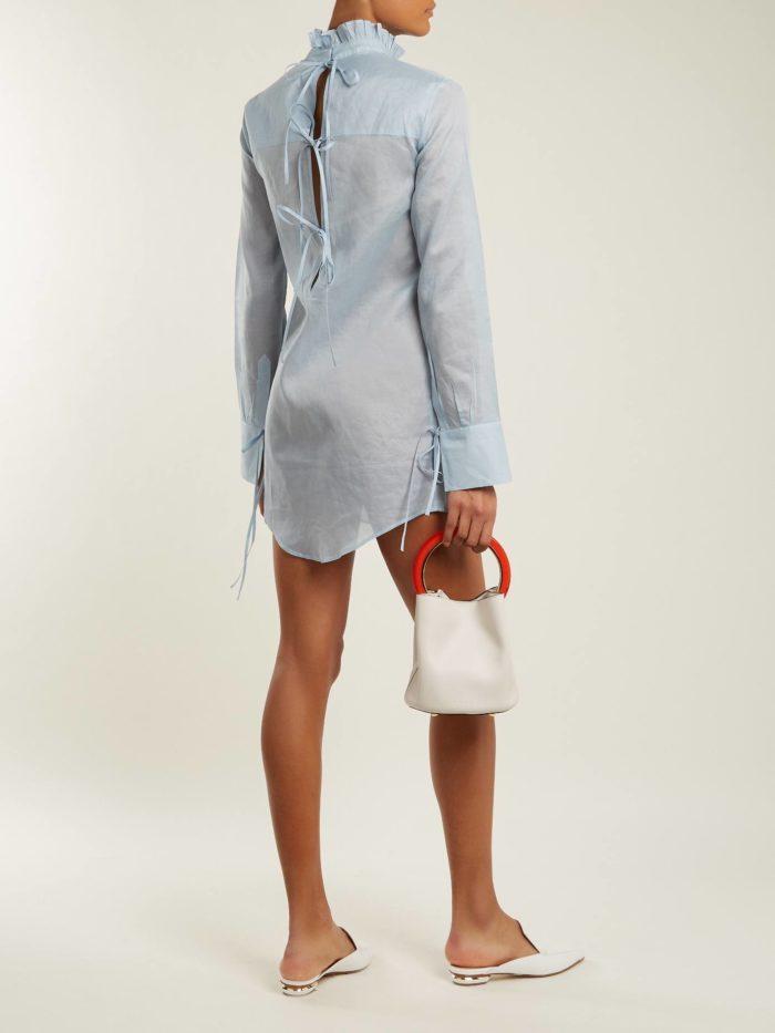 асимметричное платье рубашка