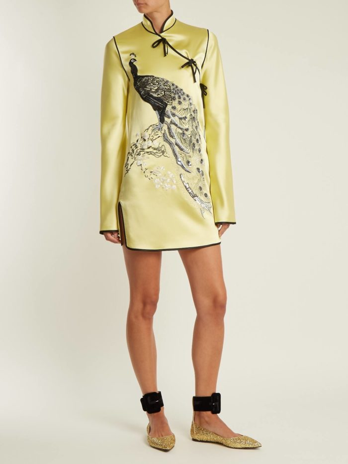 мини платье с изображением