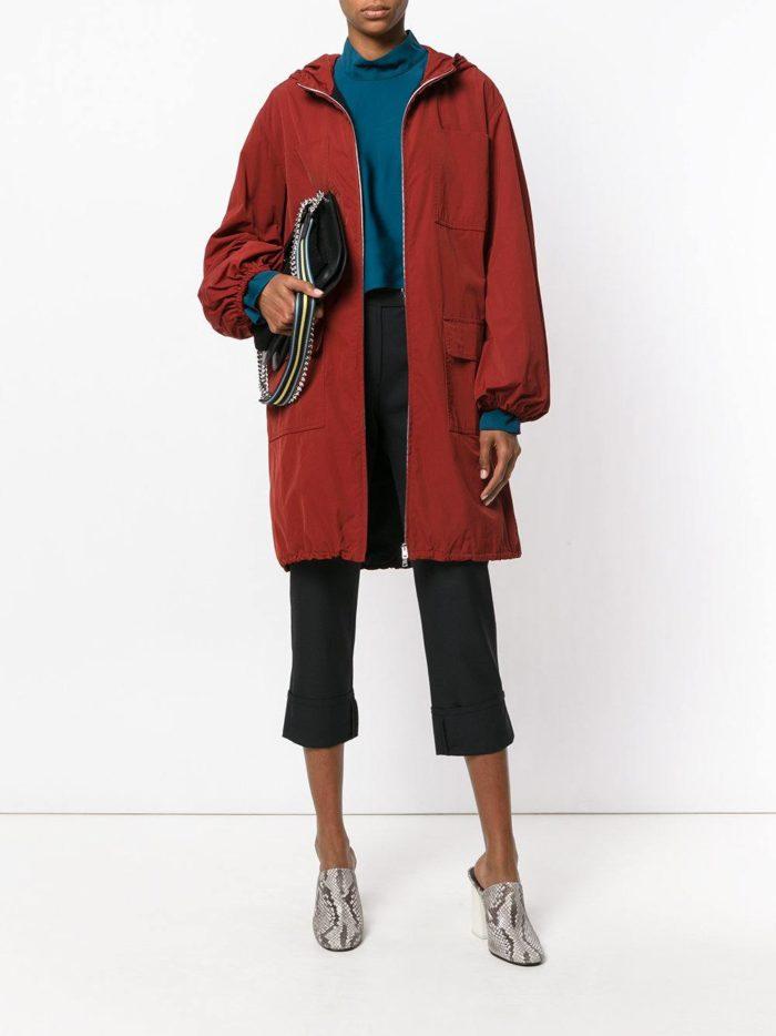 Модные цвета осень-зима 2019-2020: куртка миди с укороченными брюками