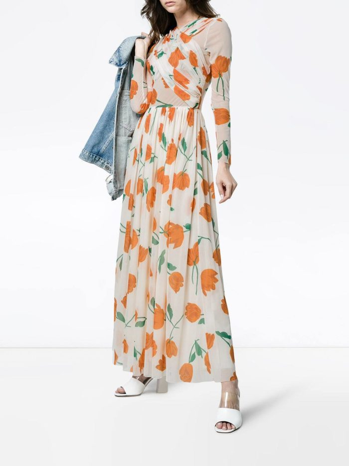 макси платье с принтом весна лето
