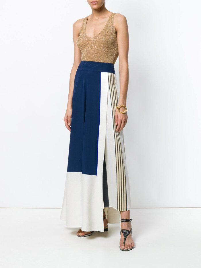 комбинированная юбка макси и топ весна лето