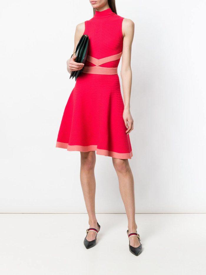 платье клеш с декором весна лето