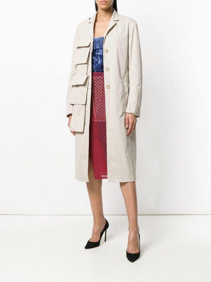 пальто с декором и юбка весна лето