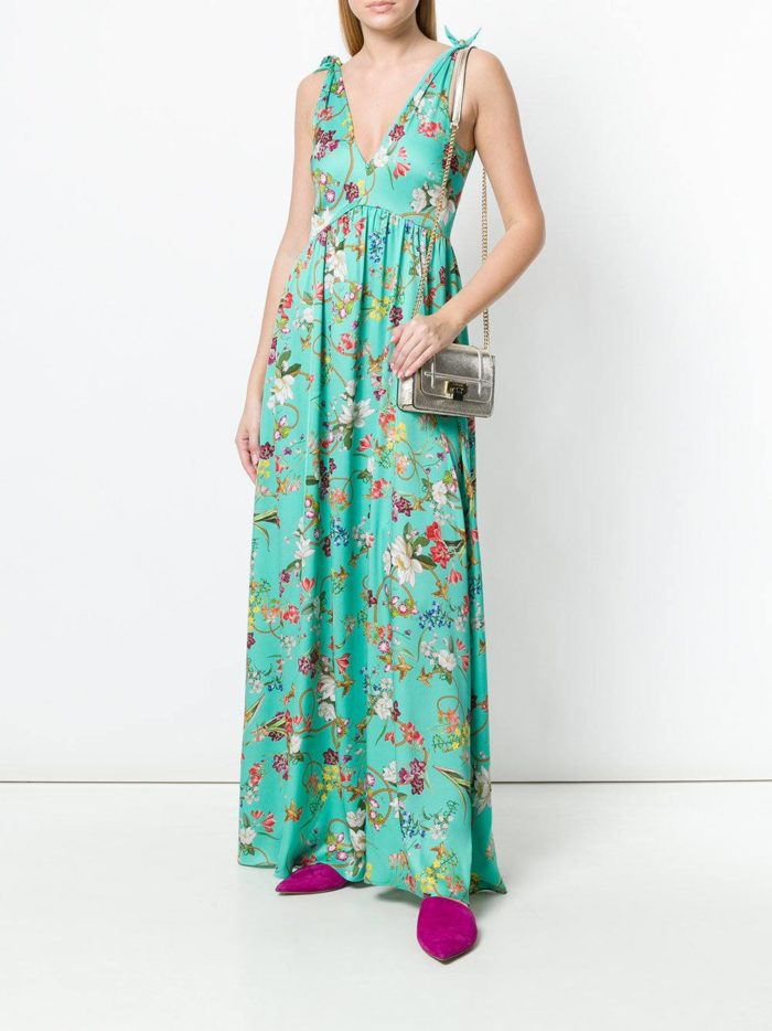 платье макси с принтом весна лето