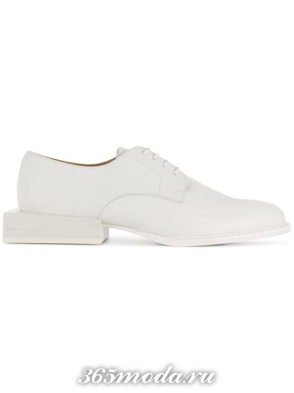туфли на шнуровке весна лето