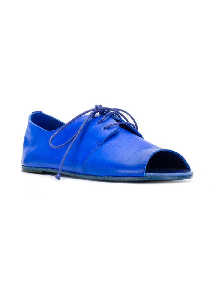 туфли с открытым носком на шнуровке