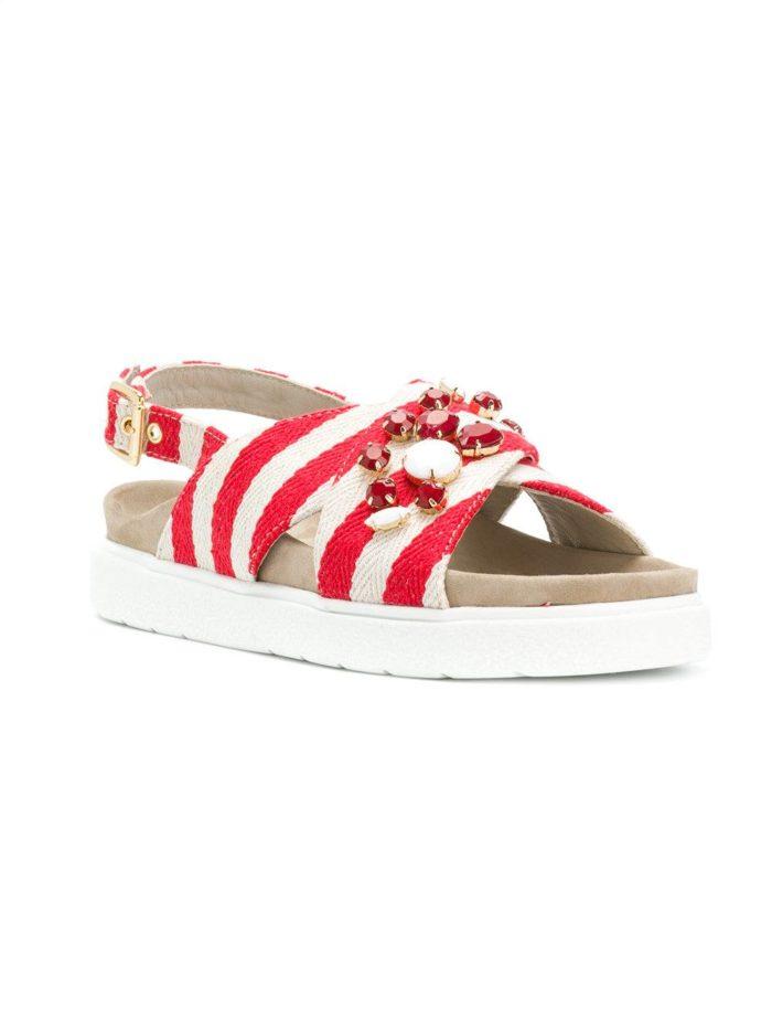 полосатые сандалии