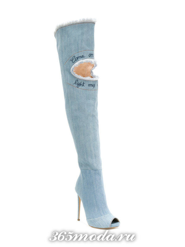 джинсовые сапоги весна лето