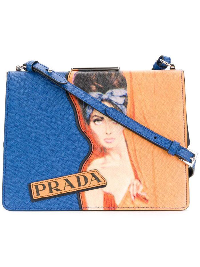 сумка с изображением на ремешке весна лето