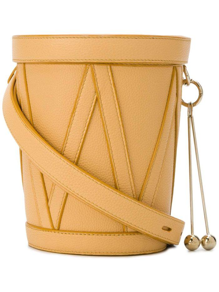 сумка-ведро с декором весна лето