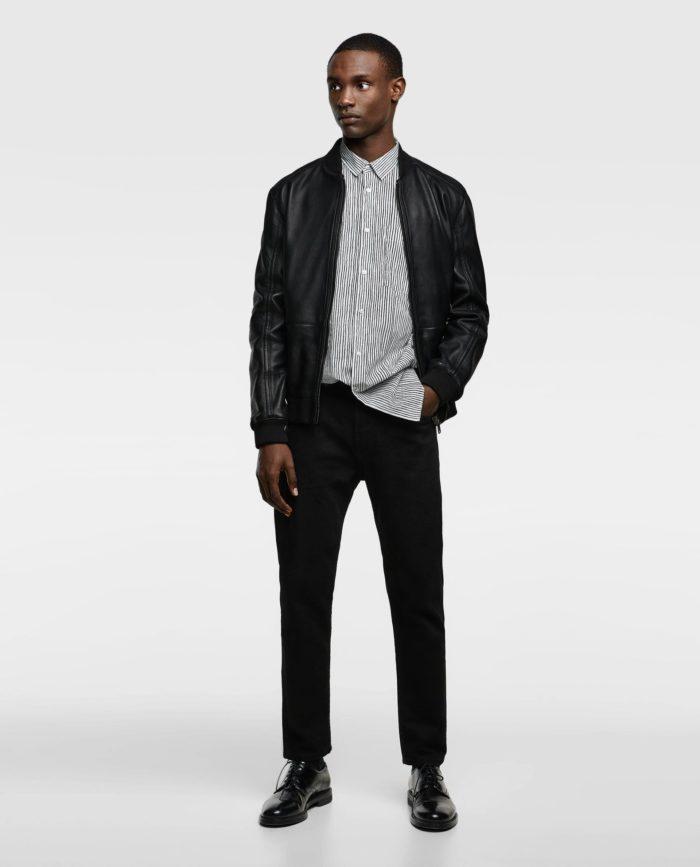 Кожаная мужская куртка весна 2021