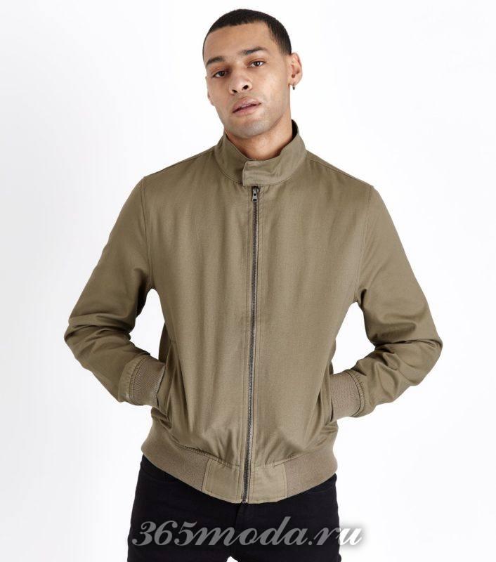 оливковая мужская куртка весна лето 2018