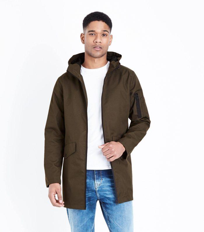коричневая мужская куртка