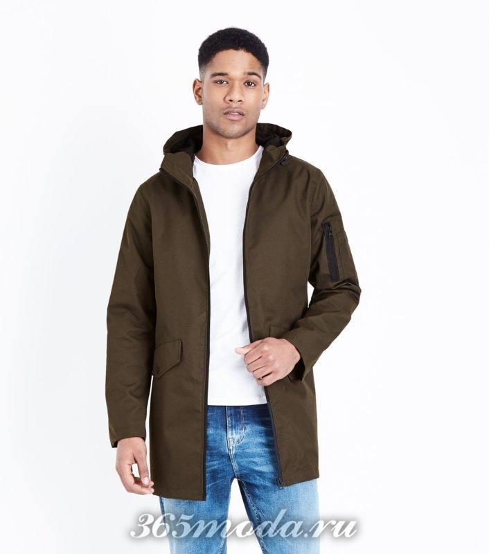 коричневая мужская куртка весна лето 2018