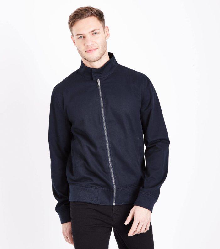 синяя мужская куртка