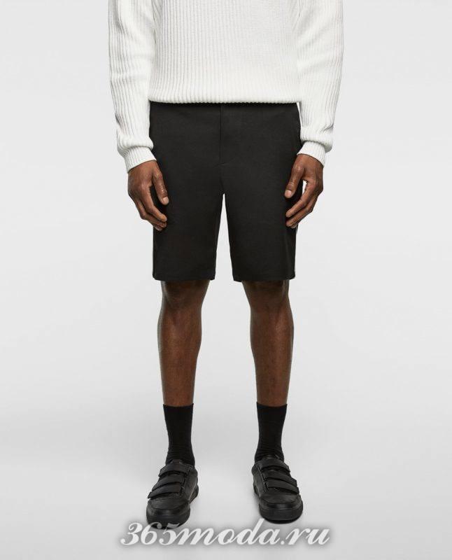 черные шорты весна лето 2018