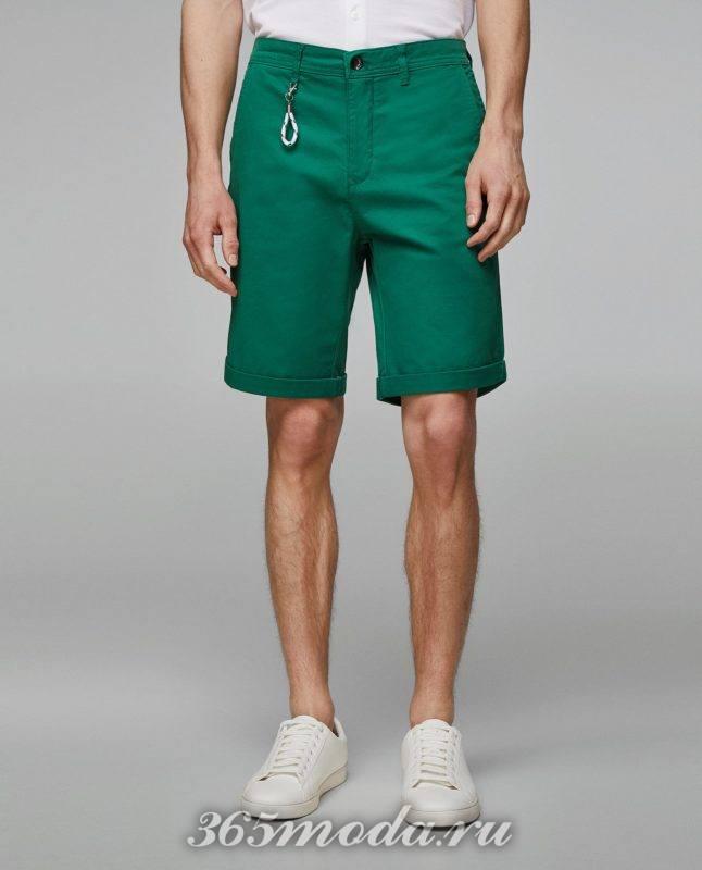 зеленые шорты весна лето 2018