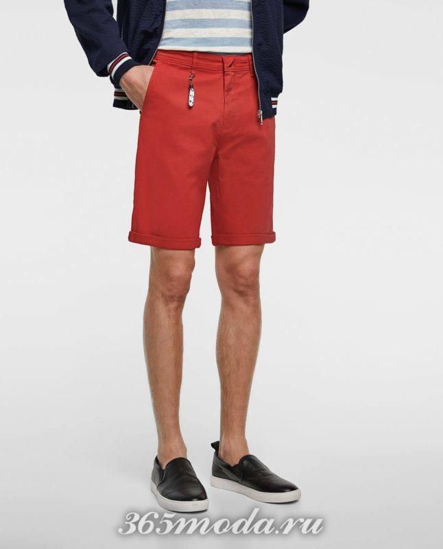 красные шорты весна лето 2018