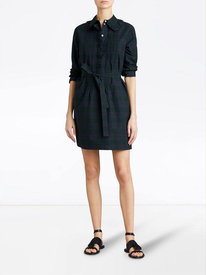 черное мини платье-рубашка
