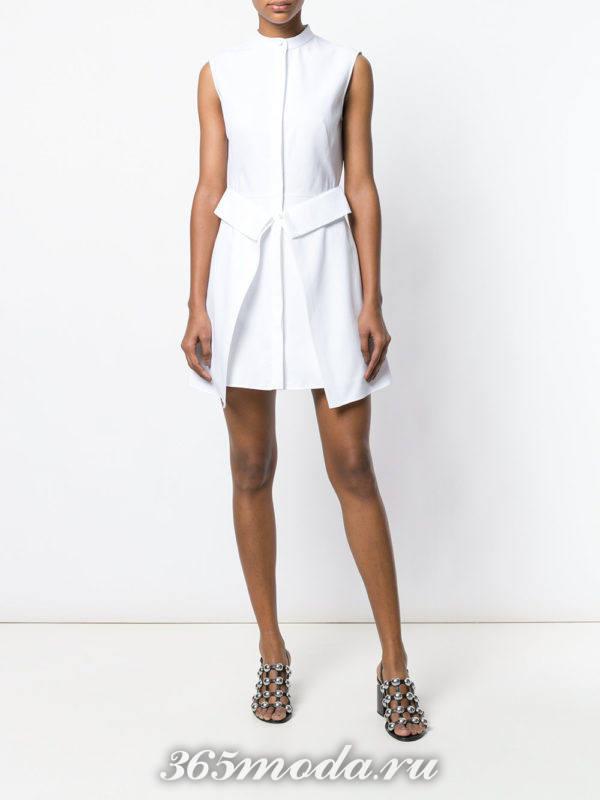 многослойное мини платье-рубашка