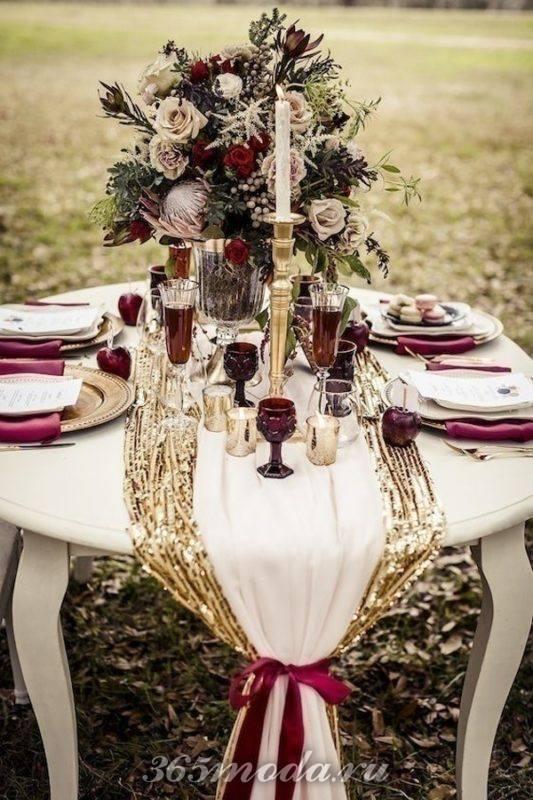 сервировка свадьбы марсала