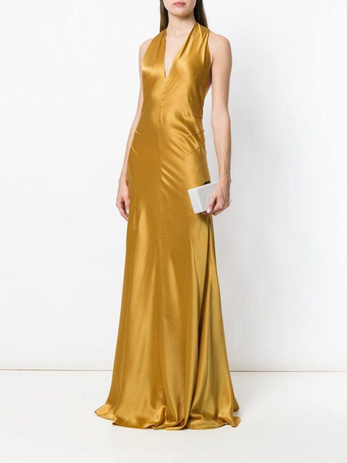 свадебное платье золото