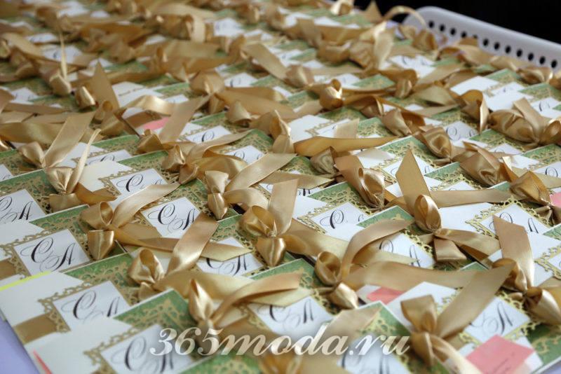 свадебные приглашения марсала и золото