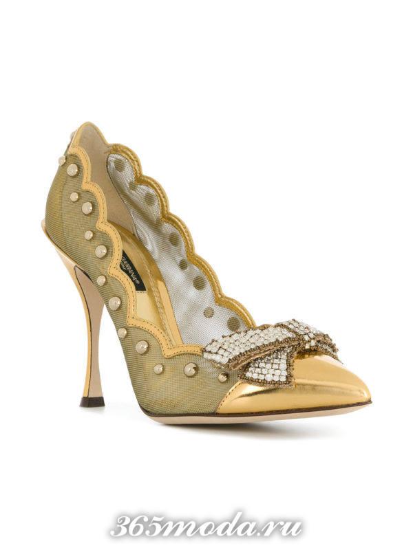 свадебные туфли марсала и золото